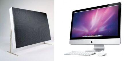 El altavoz Braun LE1 y el iMac de Apple