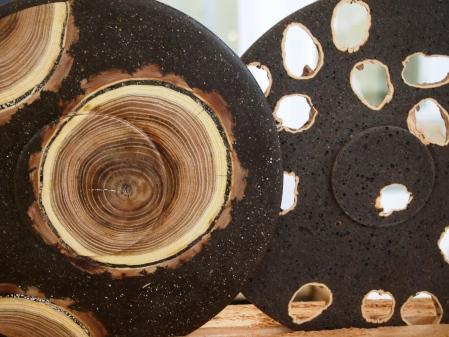 Platos realizados con restos orgánicos, obra de la artista Esther Bar