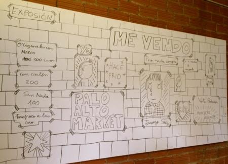 Cartel de la instalación de Juanjo Sáez